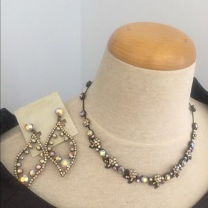 Necklace and earrings set, beautiful and bran new